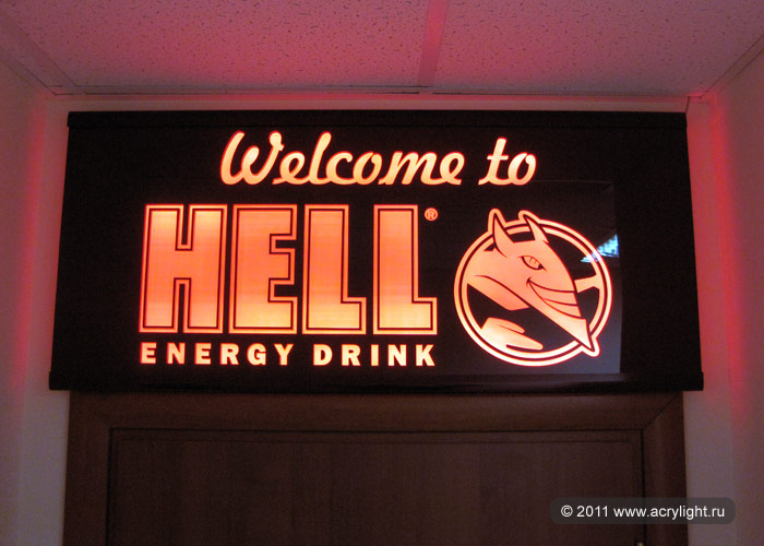 Световая панель HELL energy drink